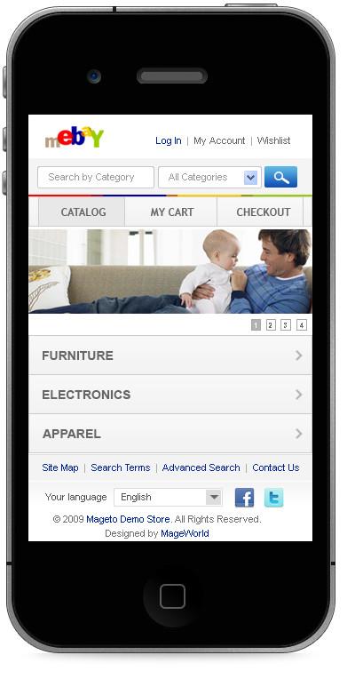 mEbay Iphone Theme (Free)