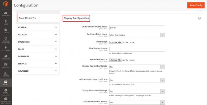 Display Configuration