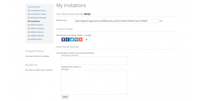 My invitations