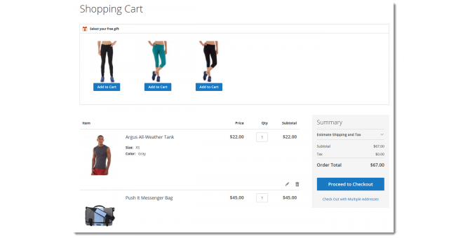 Proceed To Checkout Cart