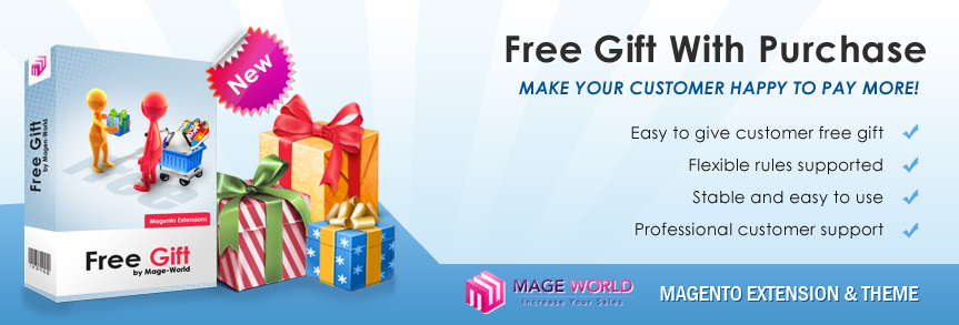Magento Extensions - Magento Modules - Free Gift Extension