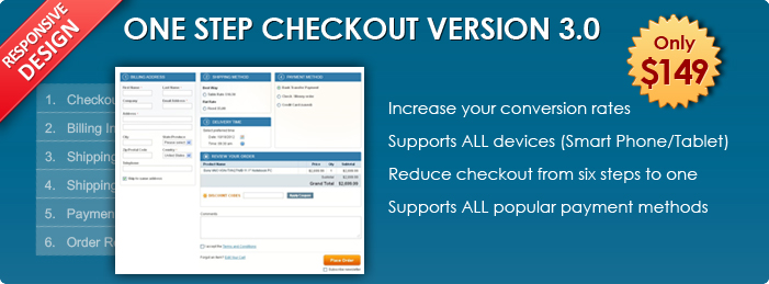 Magento One Step CheckOut 2.0