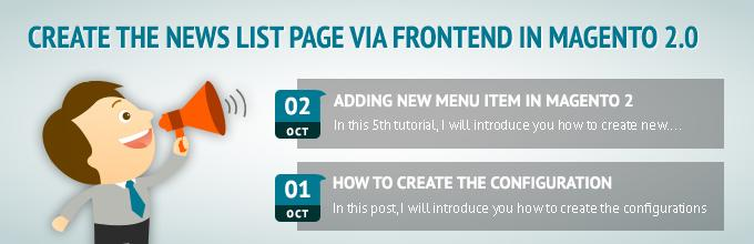 Create the news list page via frontend in Magento 2