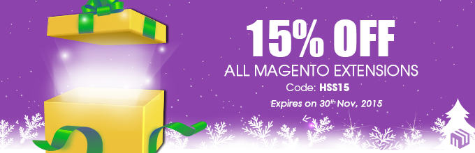 Enjoy 15% OFF All Magento Extensions for 2015 Shopping Season