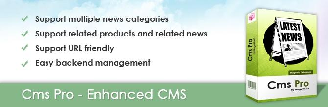 CMS Pro by MageWorld – the best solution for dealing with news