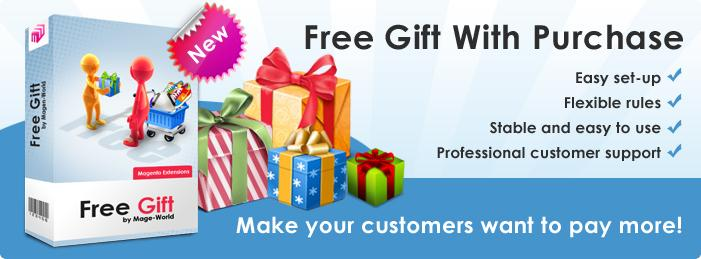 """Give more gifts, make more profit"" with the Free Gift Extension v 2.1.4"