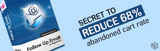 Secret To Reduce 68% Abandoned Shopping Cart Rates