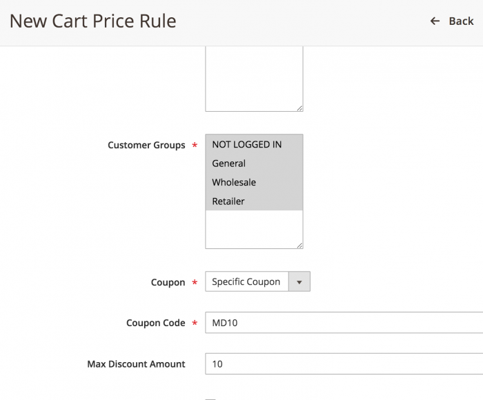 Limit the money amount for Magento 2 Coupon Discount