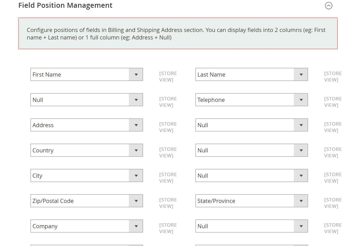 Manage checkout fields display for Magento 2 one step checkout
