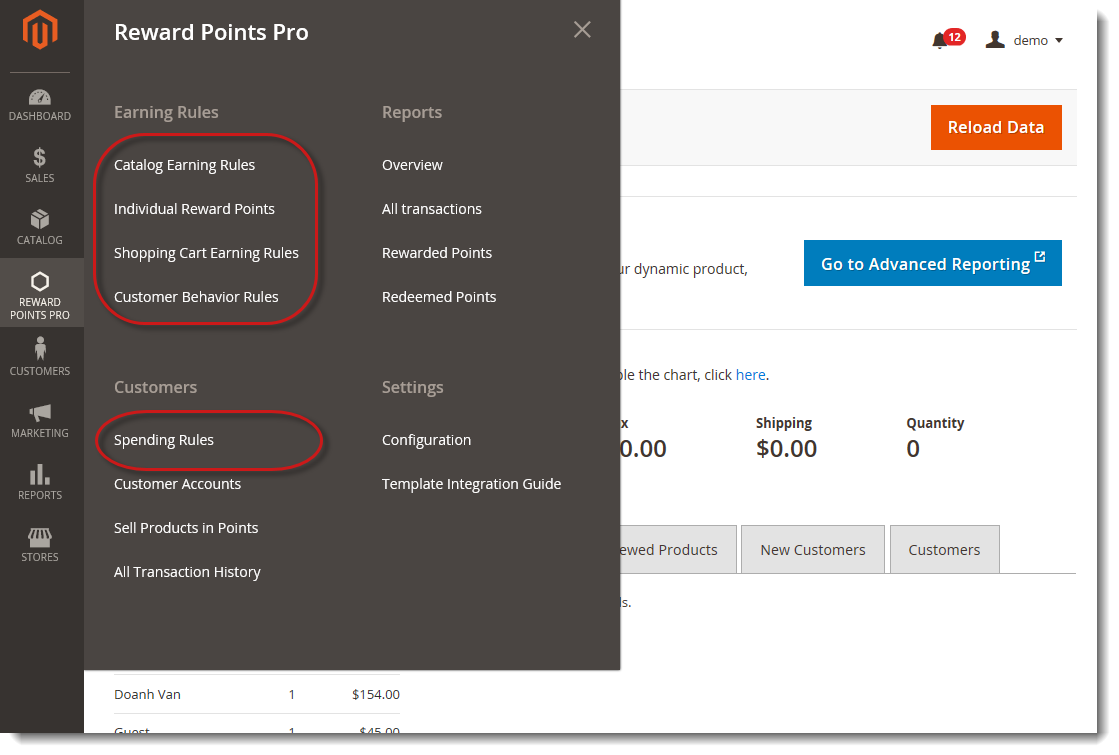 Setup Earning and Spending rules for Magento 2 Reward Points