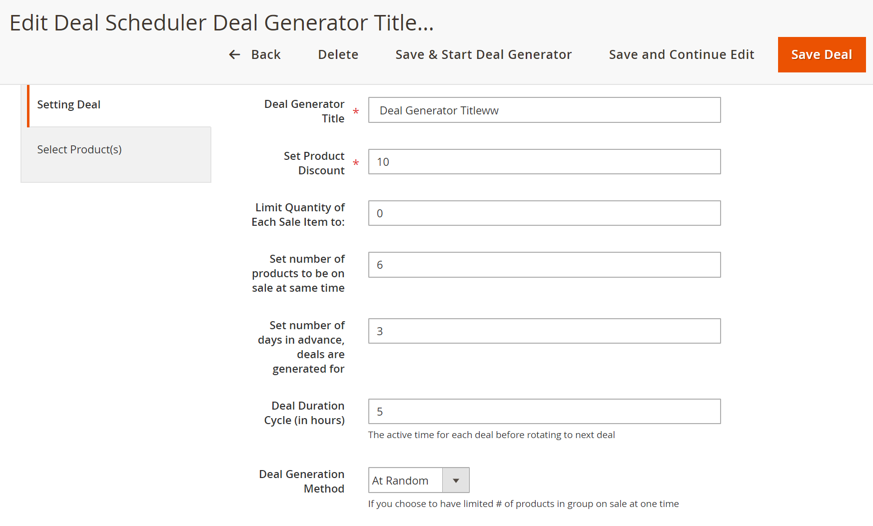 Smart deal generator for Magento 2 Daily Deal